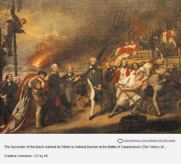 John Singleton Copley, The Surrender of the Dutch Admiral de Winter to Admiral Duncan at the Battle of Camperdown (The Victory of Lord Duncan)