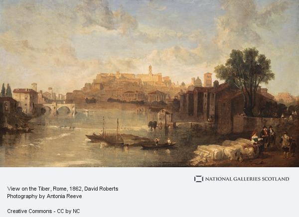 David Roberts, View on the Tiber, Rome