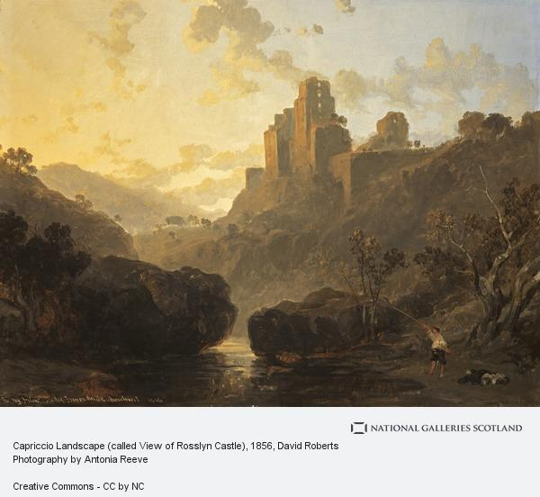 David Roberts, Capriccio Landscape (called View of Rosslyn Castle)