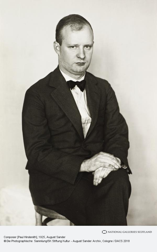 August Sander, Composer [Paul Hindemith], c.1925 (about 1925)