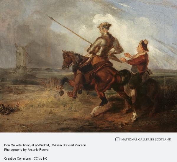 William Stewart Watson, Don Quixote Tilting at a Windmill