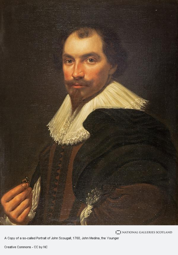 John Medina, the Younger, A Copy of a so-called Portrait of John Scougall (NG 2032)