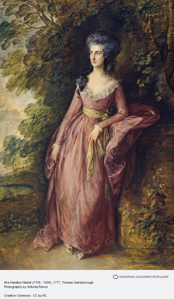 Thomas Gainsborough, Mrs Hamilton Nisbet (1756 - 1834)