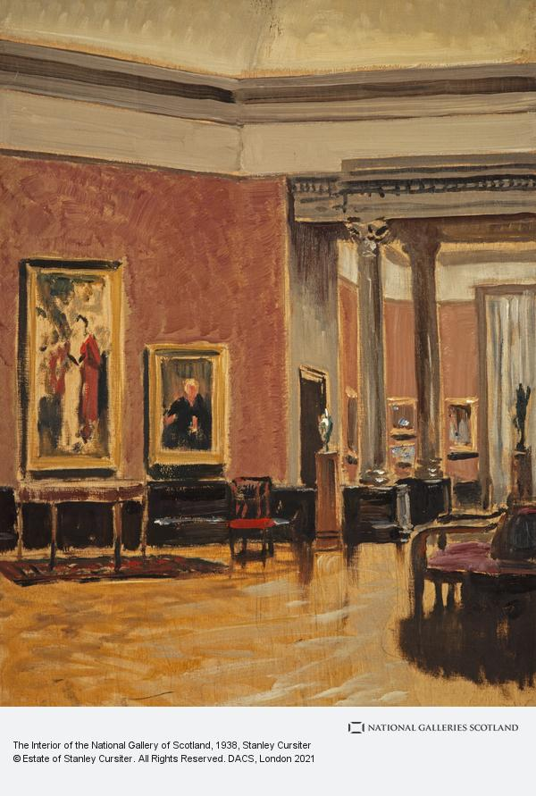 Stanley Cursiter, The Interior of the National Gallery of Scotland