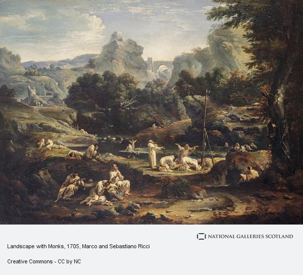 Marco and Sebastiano Ricci, Landscape with Monks