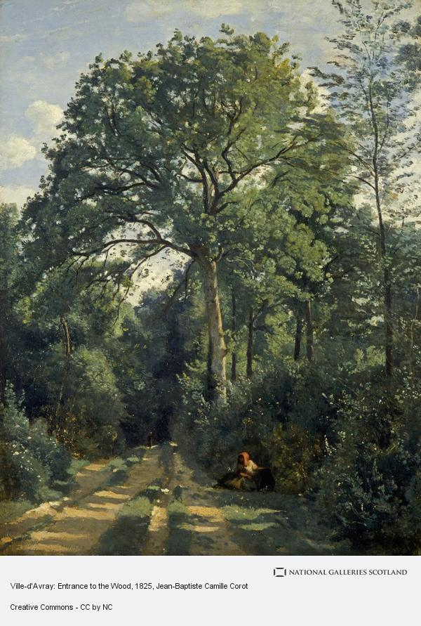 Jean-Baptiste Camille Corot, Ville-d'Avray: Entrance to the Wood (About 1825)
