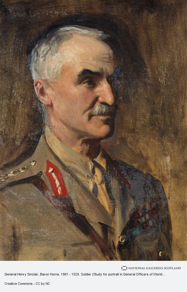 John Singer Sargent, General Henry Sinclair, Baron Horne, 1861 - 1929. Soldier (Study for portrait in General Officers of World War I)