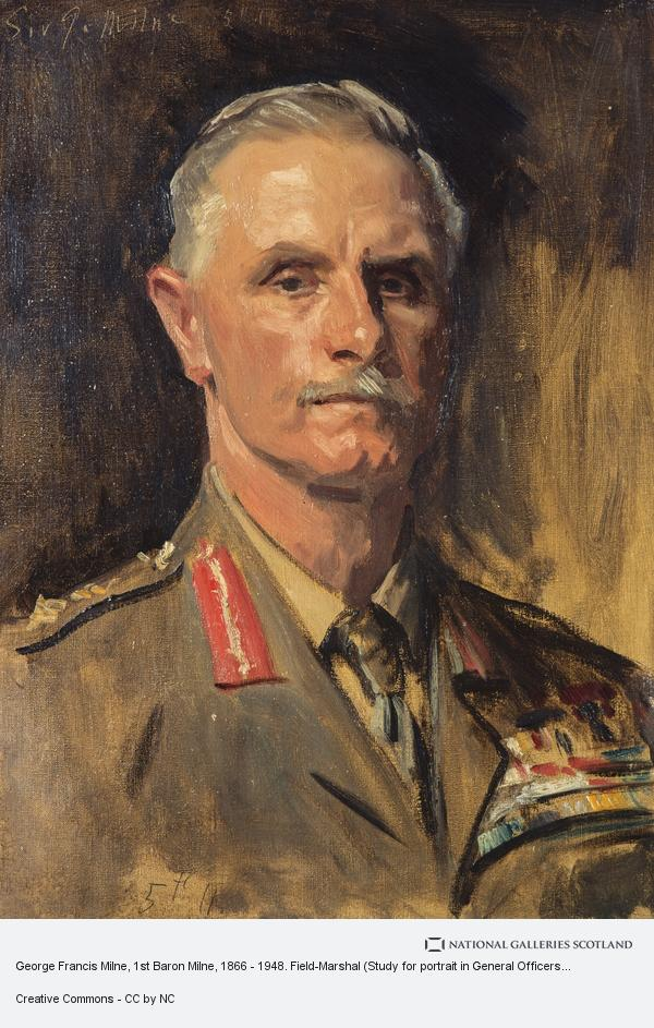 John Singer Sargent, George Francis Milne, 1st Baron Milne, 1866 - 1948. Field-Marshal (Study for portrait in General Officers of World War I, 1914 - 1918)