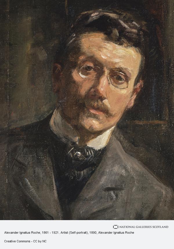 Alexander Ignatius Roche, Alexander Ignatius Roche, 1861 - 1921. Artist (Self-portrait)