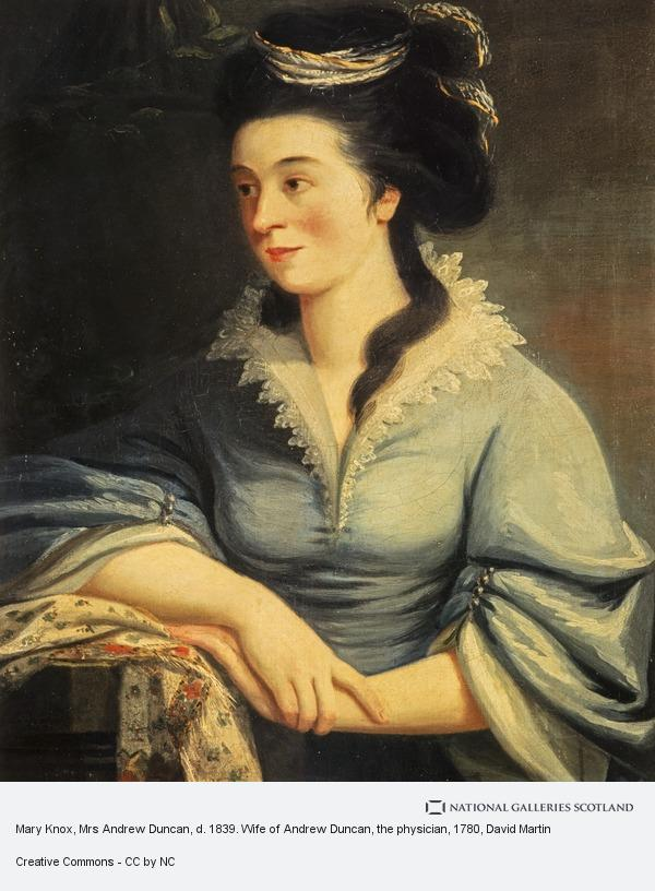David Martin, Mary Knox, Mrs Andrew Duncan, d. 1839. Wife of Andrew Duncan, the physician