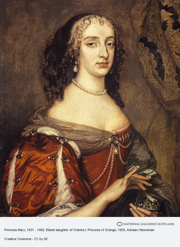 Adriaen Hanneman, Princess Mary, 1631 - 1660. Eldest daughter of Charles I; Princess of Orange
