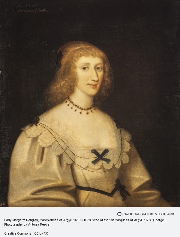 George Jamesone, Lady Margaret Douglas, Marchioness of Argyll, 1610 - 1678. Wife of the 1st Marquess of Argyll