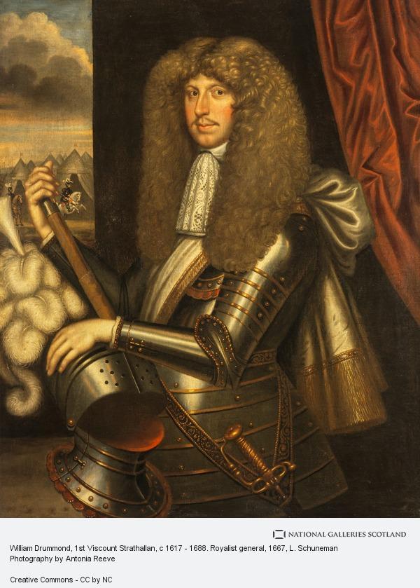 L. Schuneman, William Drummond, 1st Viscount Strathallan, c 1617 - 1688. Royalist general