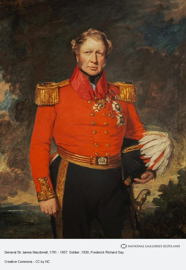 Frederick Richard Say, General Sir James Macdonell, 1781 - 1857. Soldier