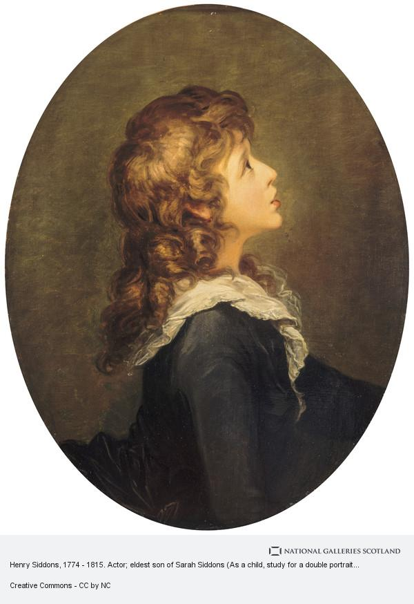 William Hamilton, Henry Siddons, 1774 - 1815. Actor; eldest son of Sarah Siddons (As a child, study for a double portrait with his mother)