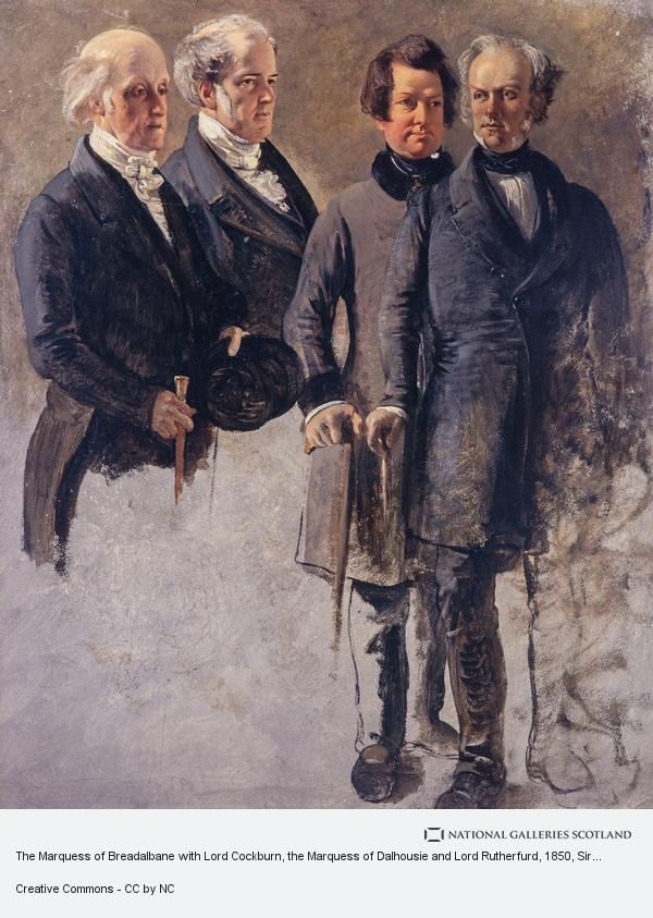 Sir George Harvey, The Marquess of Breadalbane with Lord Cockburn, the Marquess of Dalhousie and Lord Rutherfurd