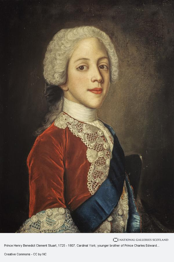 Prince Henry Benedict Clement Stuart, 1725 - 1807. Cardinal York; younger  brother of Prince Charles Edward Stuart | National Galleries of Scotland