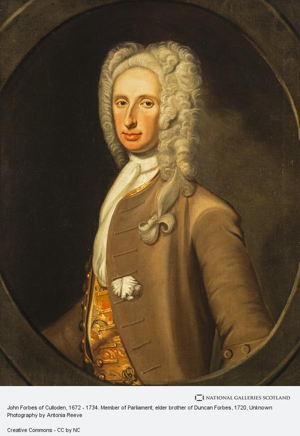 Unknown, John Forbes of Culloden, 1672 - 1734. Member of Parliament; elder brother of Duncan Forbes