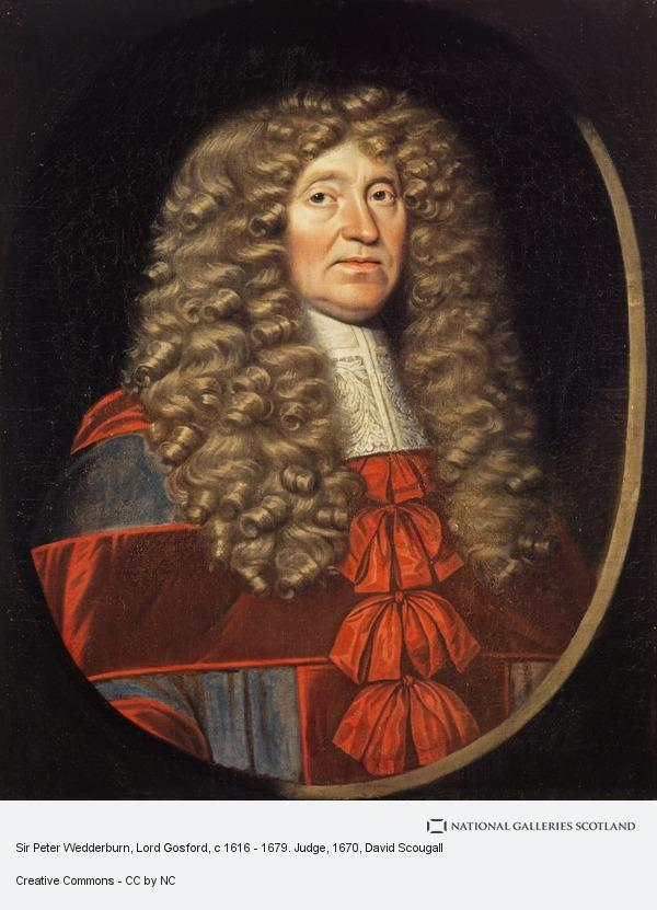David Scougall, Sir Peter Wedderburn, Lord Gosford, c 1616 - 1679. Judge
