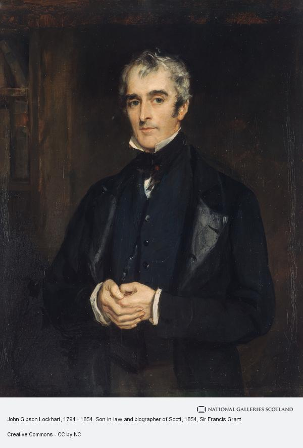 Sir Francis Grant, John Gibson Lockhart, 1794 - 1854. Son-in-law and biographer of Scott