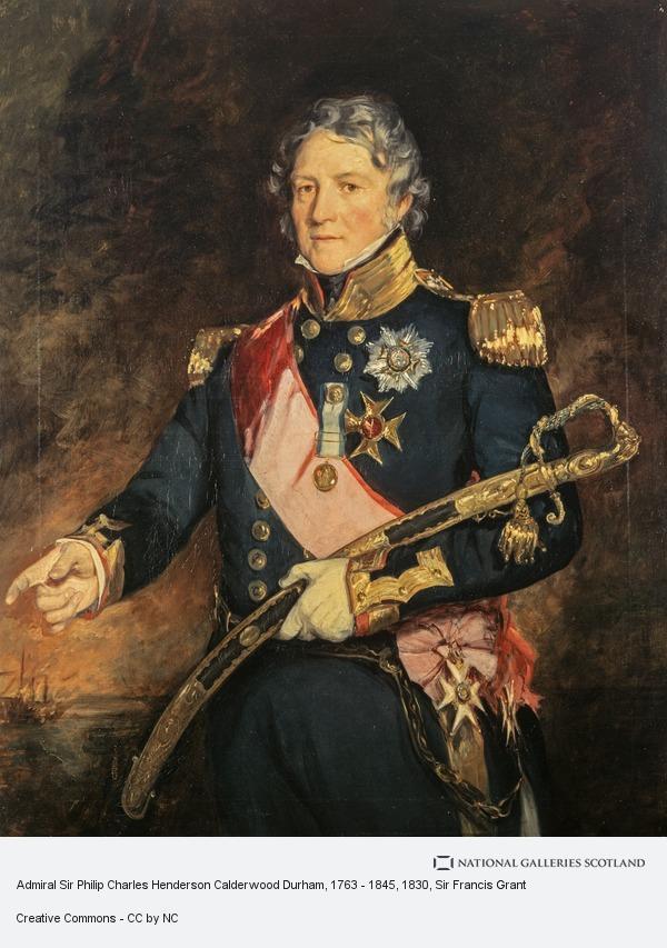 Sir Francis Grant, Admiral Sir Philip Charles Henderson Calderwood Durham, 1763 - 1845