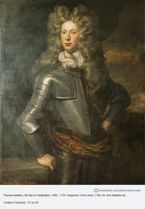 Sir John Baptiste de Medina, Thomas Hamilton, 6th Earl of Haddington, 1680 - 1735. Supporter of the Union