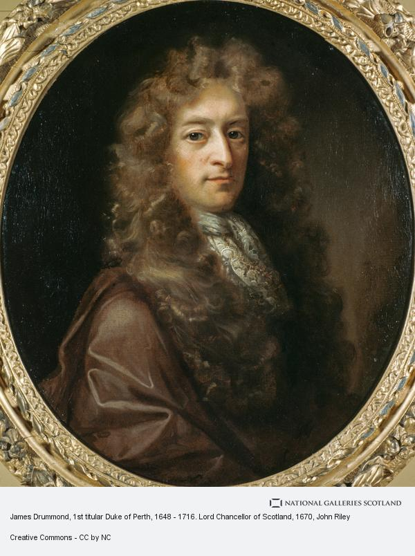 John Riley, James Drummond, 1st titular Duke of Perth, 1648 - 1716. Lord Chancellor of Scotland