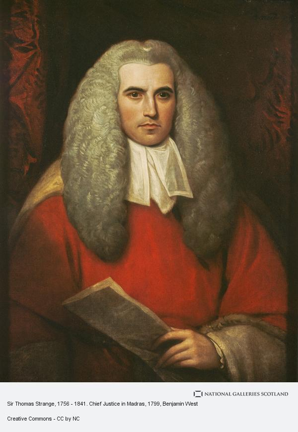 Benjamin West, Sir Thomas Strange, 1756 - 1841. Chief Justice in Madras
