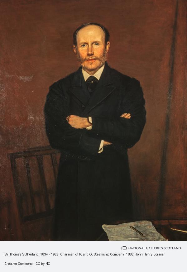 John Henry Lorimer, Sir Thomas Sutherland, 1834 - 1922. Chairman of P. and O. Steamship Company
