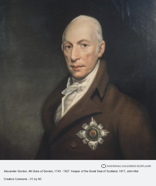 John Moir, Alexander Gordon, 4th Duke of Gordon, 1743 - 1827. Keeper of the Great Seal of Scotland