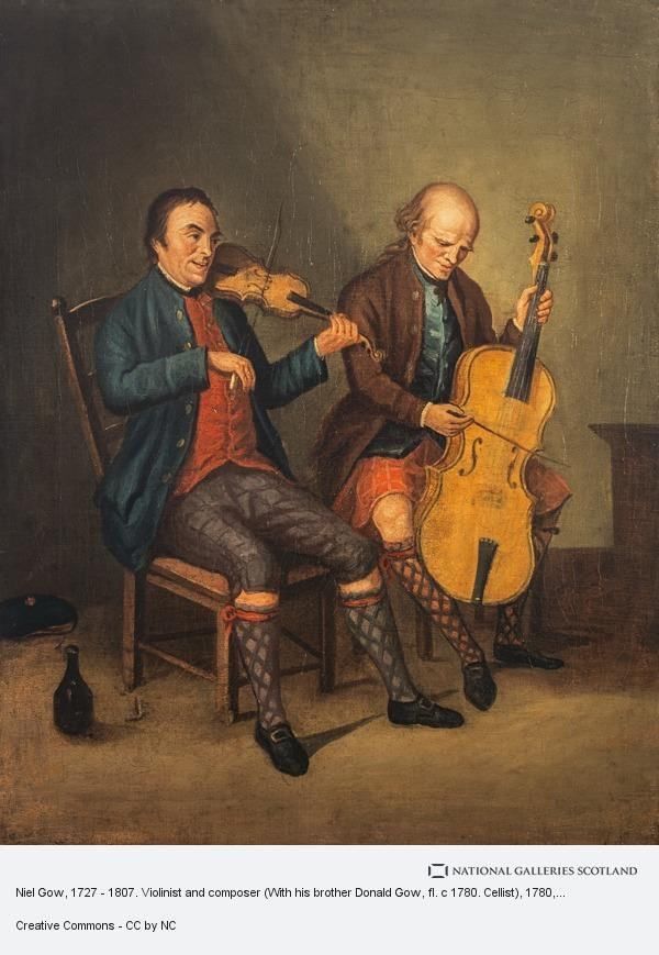 David Allan, Niel Gow, 1727 - 1807. Violinist and composer (With his brother Donald Gow, fl. c 1780. Cellist)