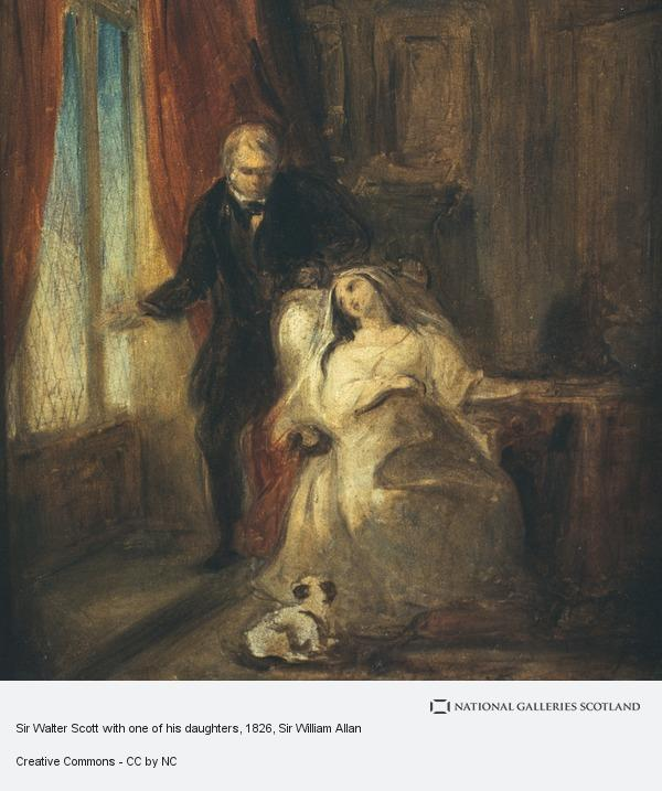 Sir William Allan, Sir Walter Scott with one of his daughters