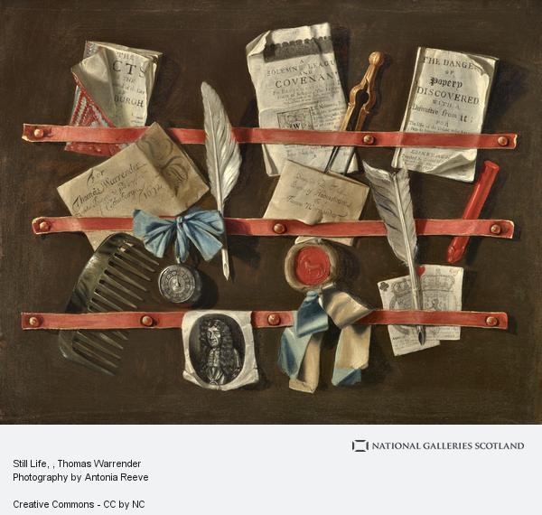Thomas Warrender, Still-life