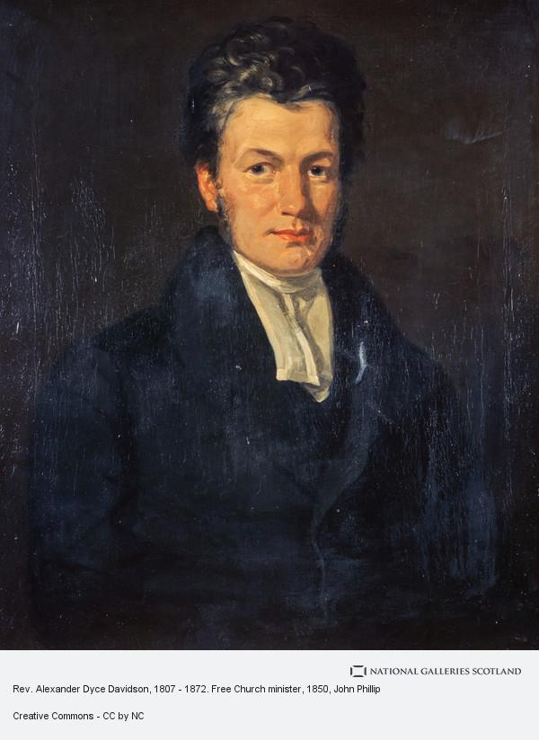 John Phillip, Rev. Alexander Dyce Davidson, 1807 - 1872. Free Church minister