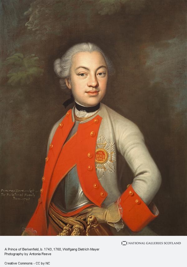 Wolfgang Dietrich Mayer, A Prince of Berkenfeld, b. 1743