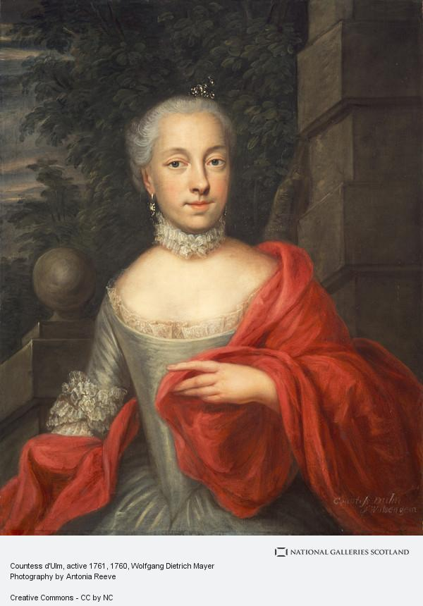 Wolfgang Dietrich Mayer, Countess d'Ulm, active 1761