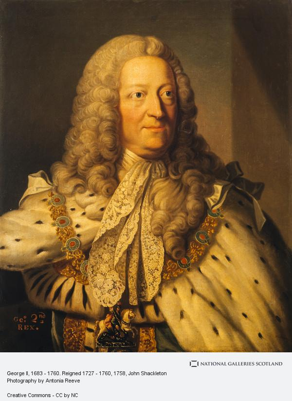 John Shackleton, George II, 1683 - 1760. Reigned 1727 - 1760