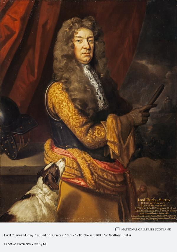 Sir Godfrey Kneller, Lord Charles Murray, 1st Earl of Dunmore, 1661 - 1710. Soldier