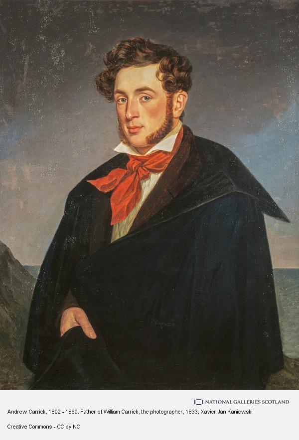 Xavier Jan Kaniewski, Andrew Carrick, 1802 - 1860. Father of William Carrick, the photographer