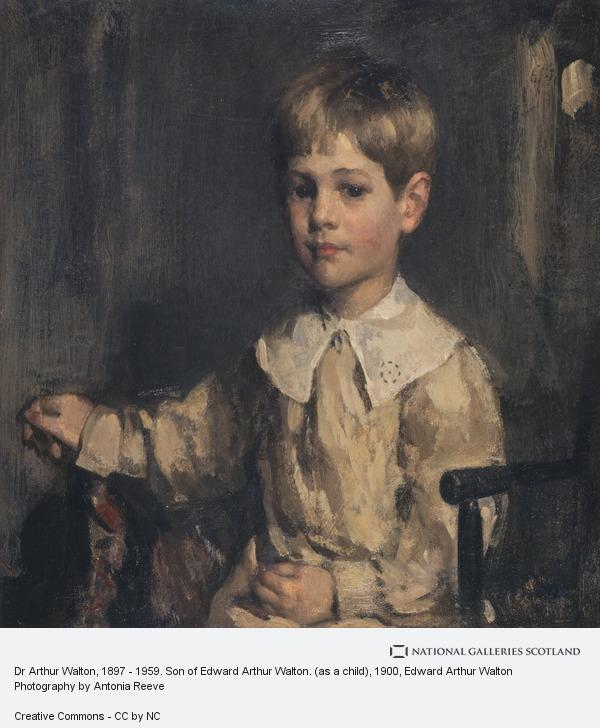 Edward Arthur Walton, Dr Arthur Walton, 1897 - 1959. Son of Edward Arthur Walton. (as a child)