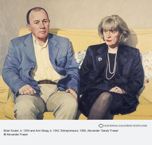 Alexander 'Sandy' Fraser, Brian Souter, b. 1954 and Ann Gloag, b. 1942. Entrepreneurs