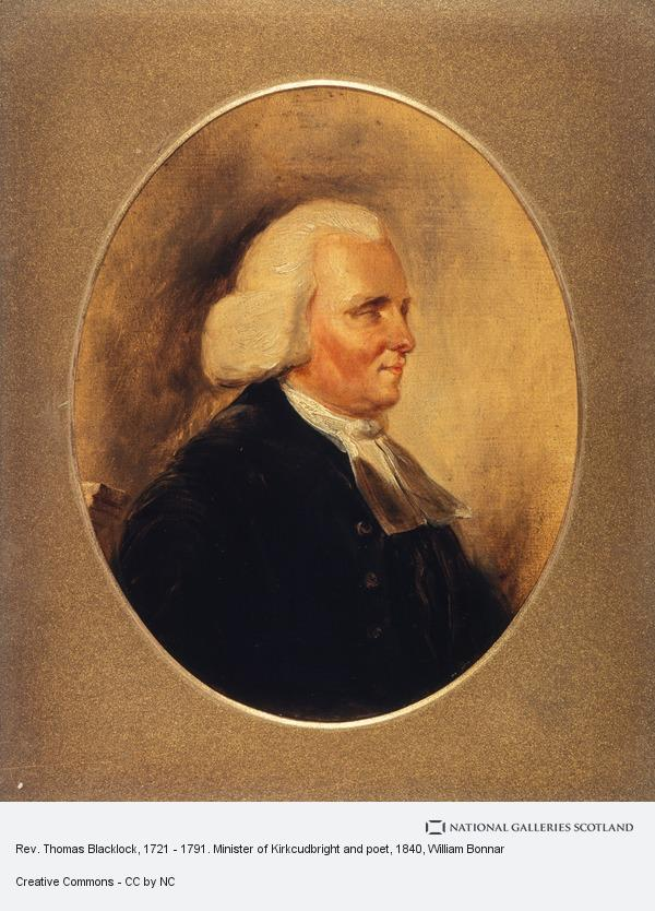 William Bonnar, Rev. Thomas Blacklock, 1721 - 1791. Minister of Kirkcudbright and poet