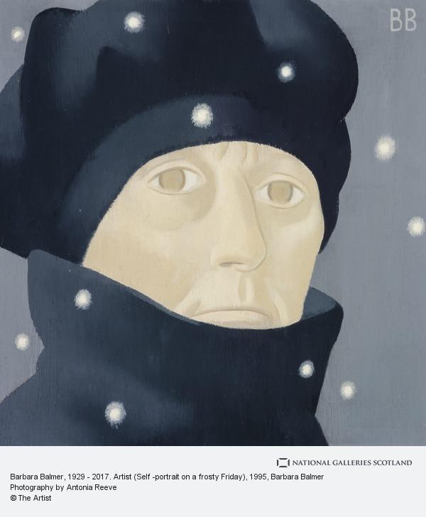 Barbara Balmer, Barbara Balmer, 1929 - 2017. Artist (Self -portrait on a frosty Friday)