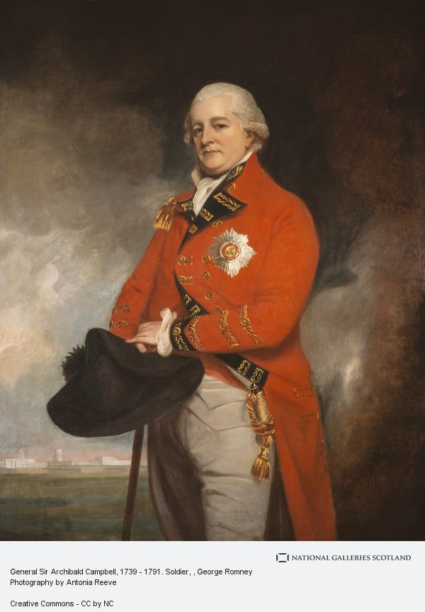 George Romney, General Sir Archibald Campbell, 1739 - 1791. Soldier