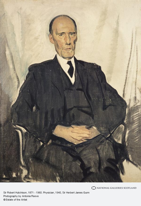 Sir Herbert James Gunn, Sir Robert Hutchison, 1871 - 1960. Physician