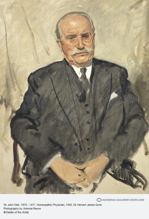 Sir Herbert James Gunn, Sir John Weir, 1879 - 1971. Homeopathic Physician