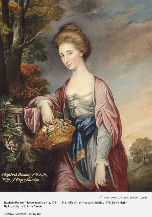 David Martin, Elizabeth Rannie, Viscountess Melville, 1751 - 1843. Wife of 1st Viscount Melville.