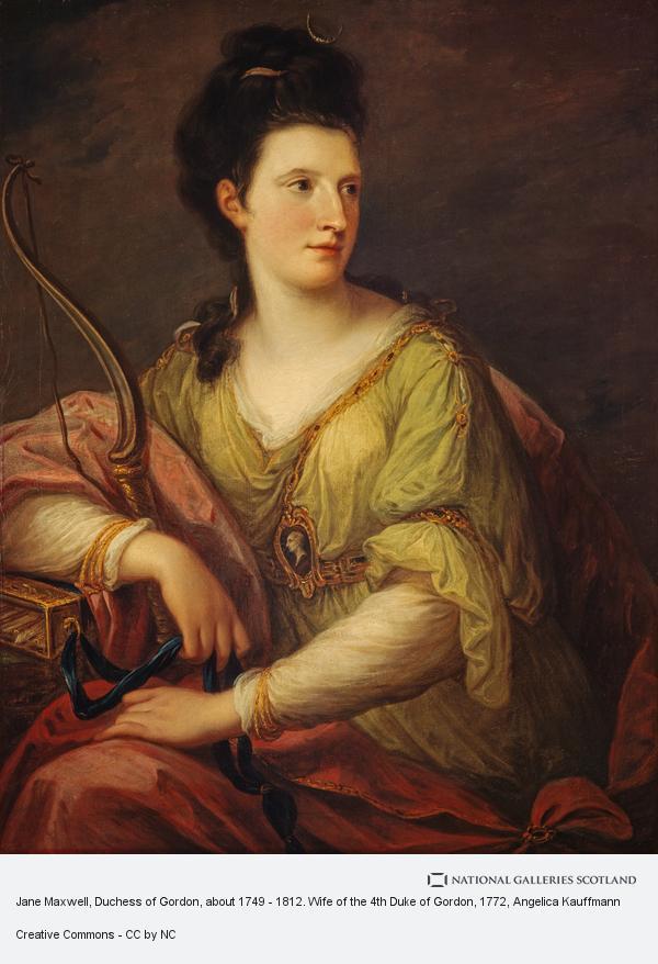 Angelica Kauffmann, Jane Maxwell, Duchess of Gordon, about 1749 - 1812. Wife of the 4th Duke of Gordon (1772 [?])