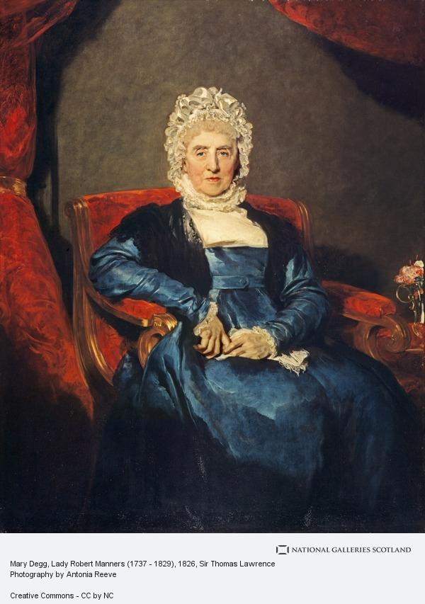 Sir Thomas Lawrence, Mary Degg, Lady Robert Manners (1737 - 1829)