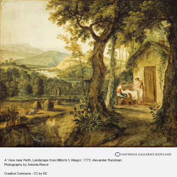 Alexander Runciman, A View near Perth, Landscape from Milton's 'L'Allegro'